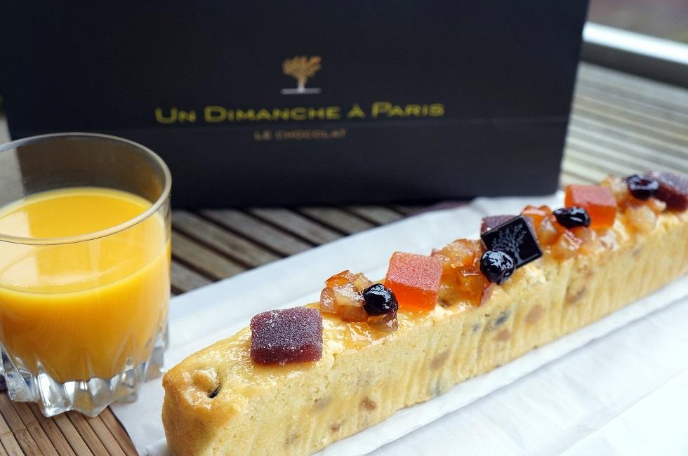 Cake aux fruits confits - Un dimanche à Paris