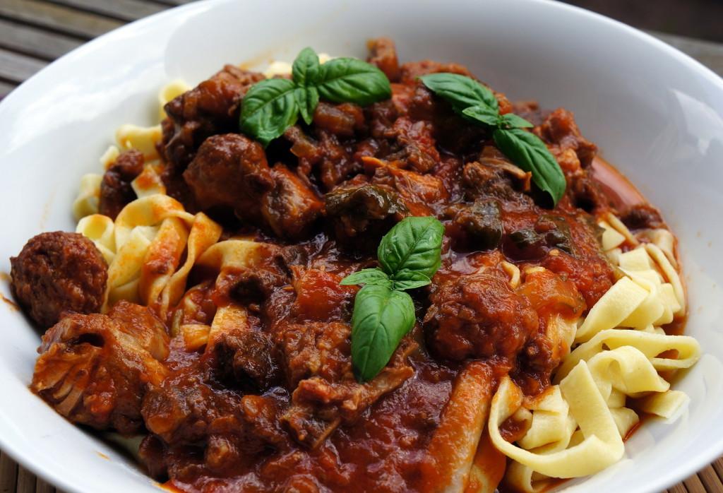 Ragoût italien et tagliatelles maison
